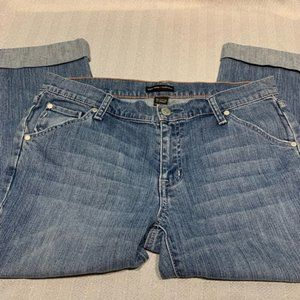 NY & Co Crop Jeans Size 8 Cuffed Capri Style Jeans